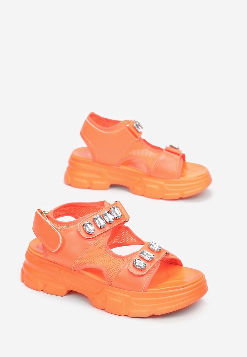 Pomarańczowe Sandały Ilaniassi