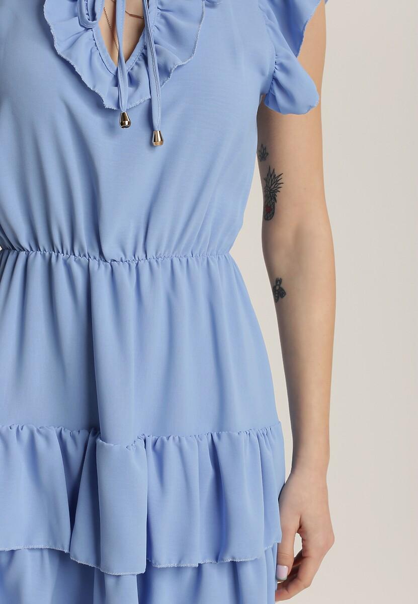 Niebieska Sukienka Samiphis