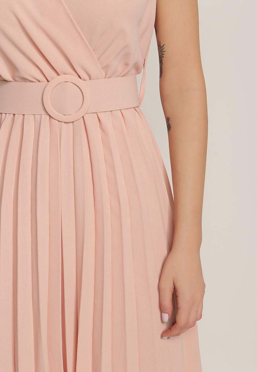 Jasnoróżowa Sukienka Gaffe