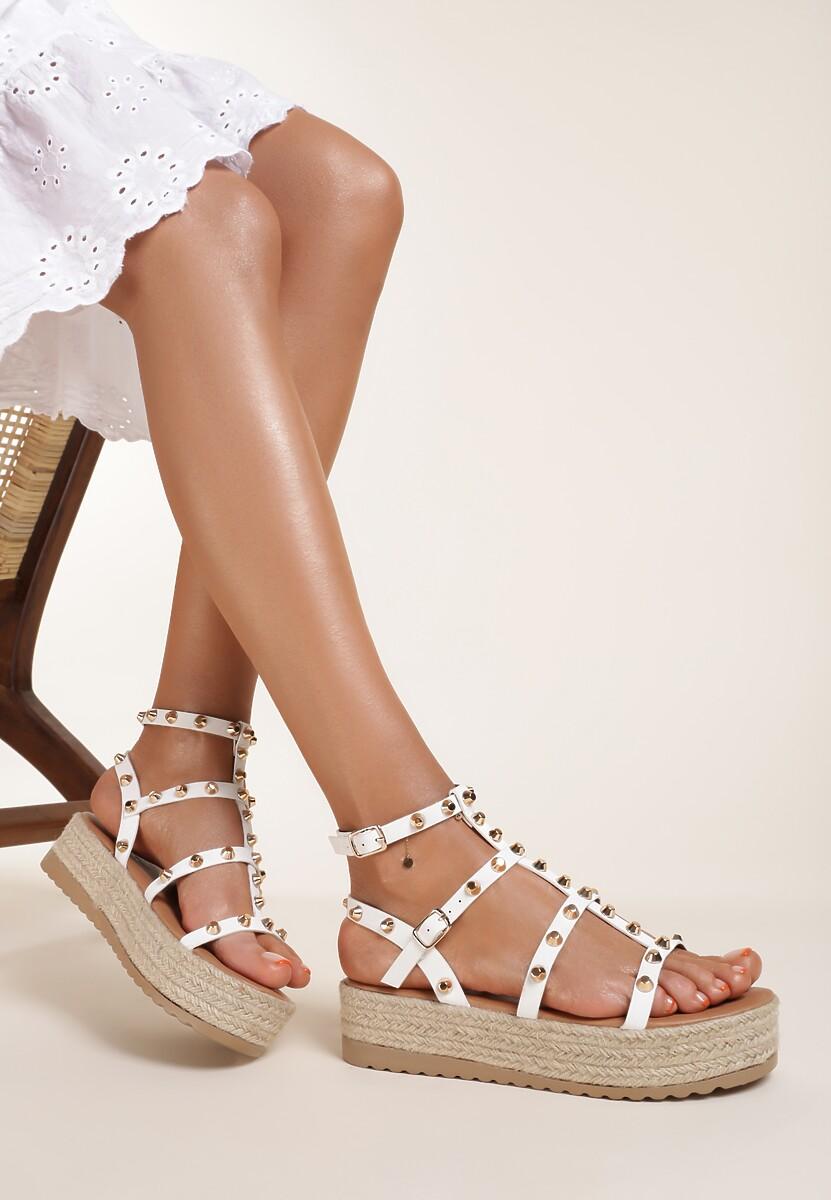 Białe Sandały Lephenis