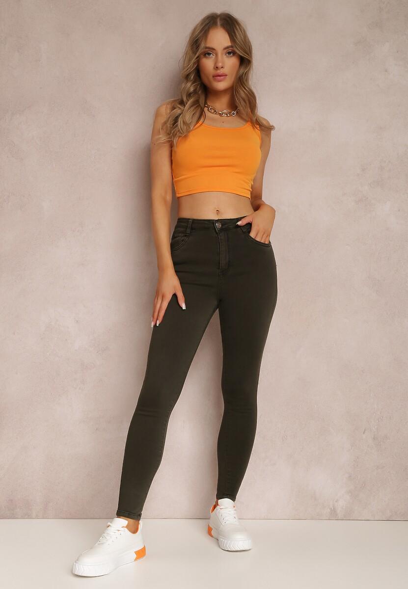 Ciemnoszare Spodnie Skinny Harphithea