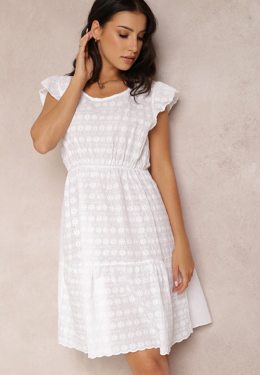 Biała Sukienka Olithacia