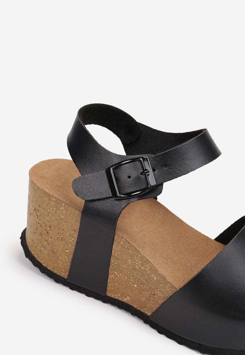Czarne Sandały Phoisei