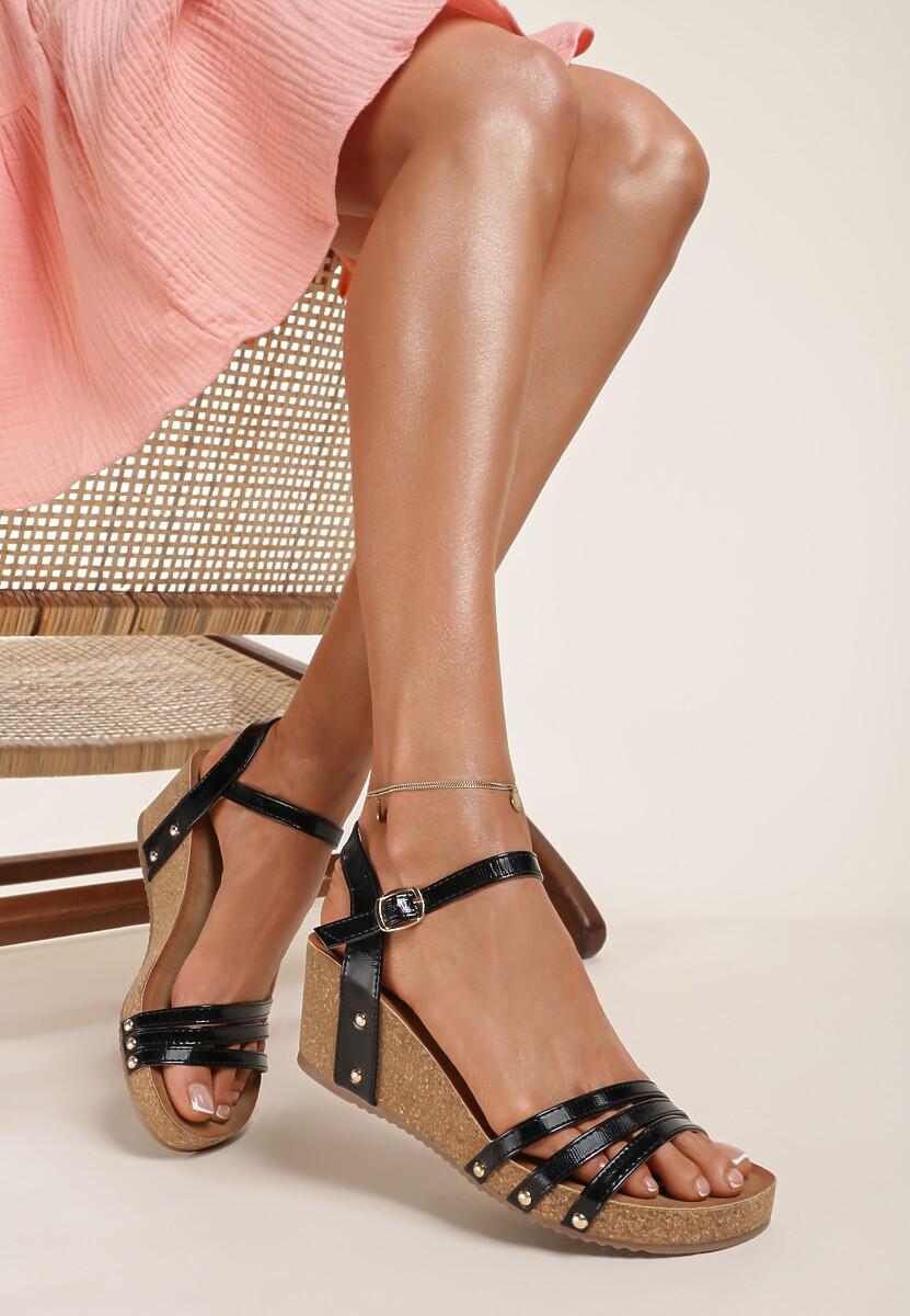 Czarne Sandały Calyphophis