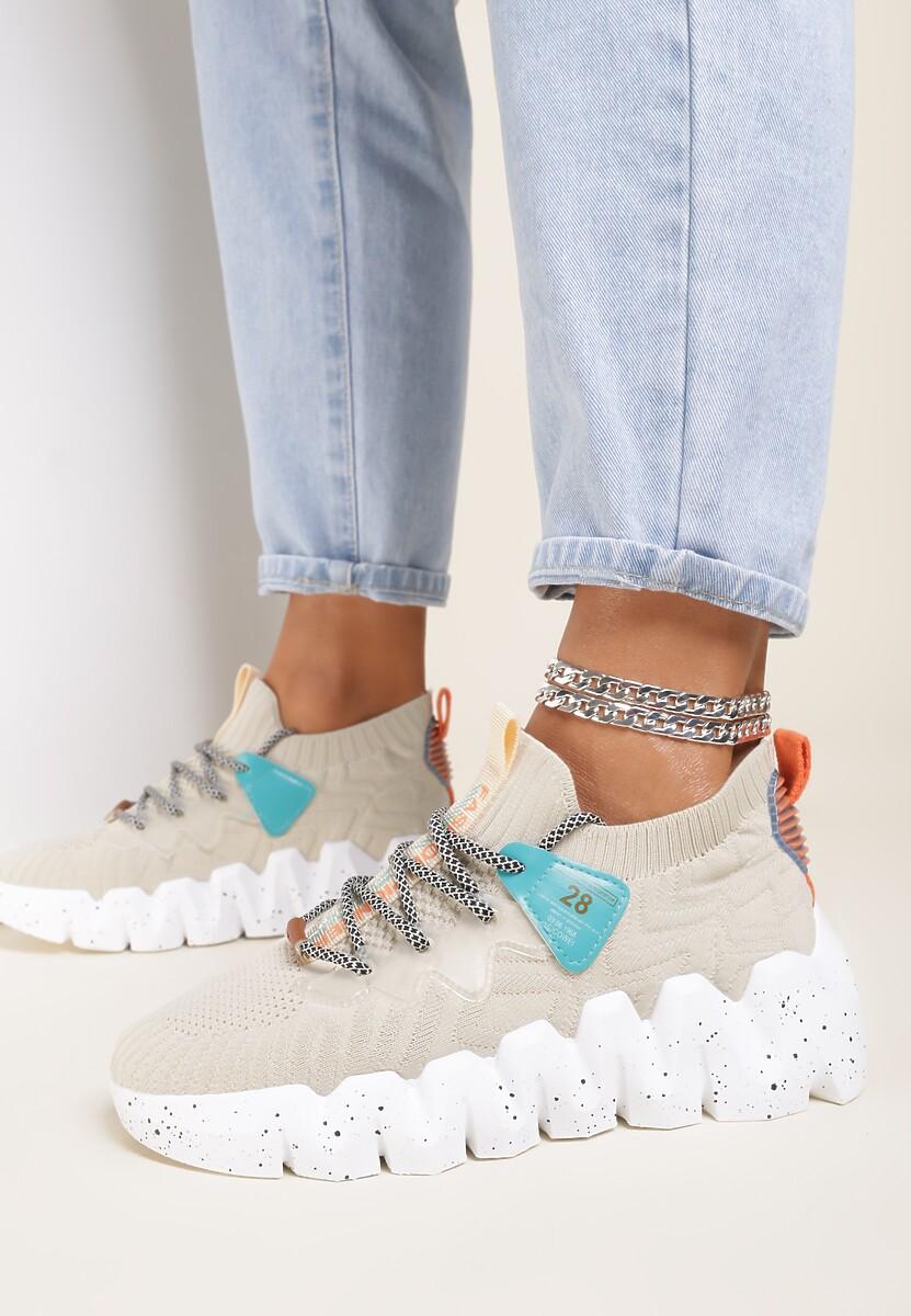 Beżowe Sneakersy Socrasos