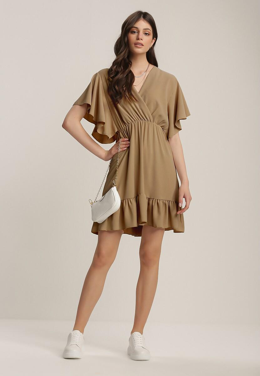 Ciemnobeżowa Sukienka Clamei