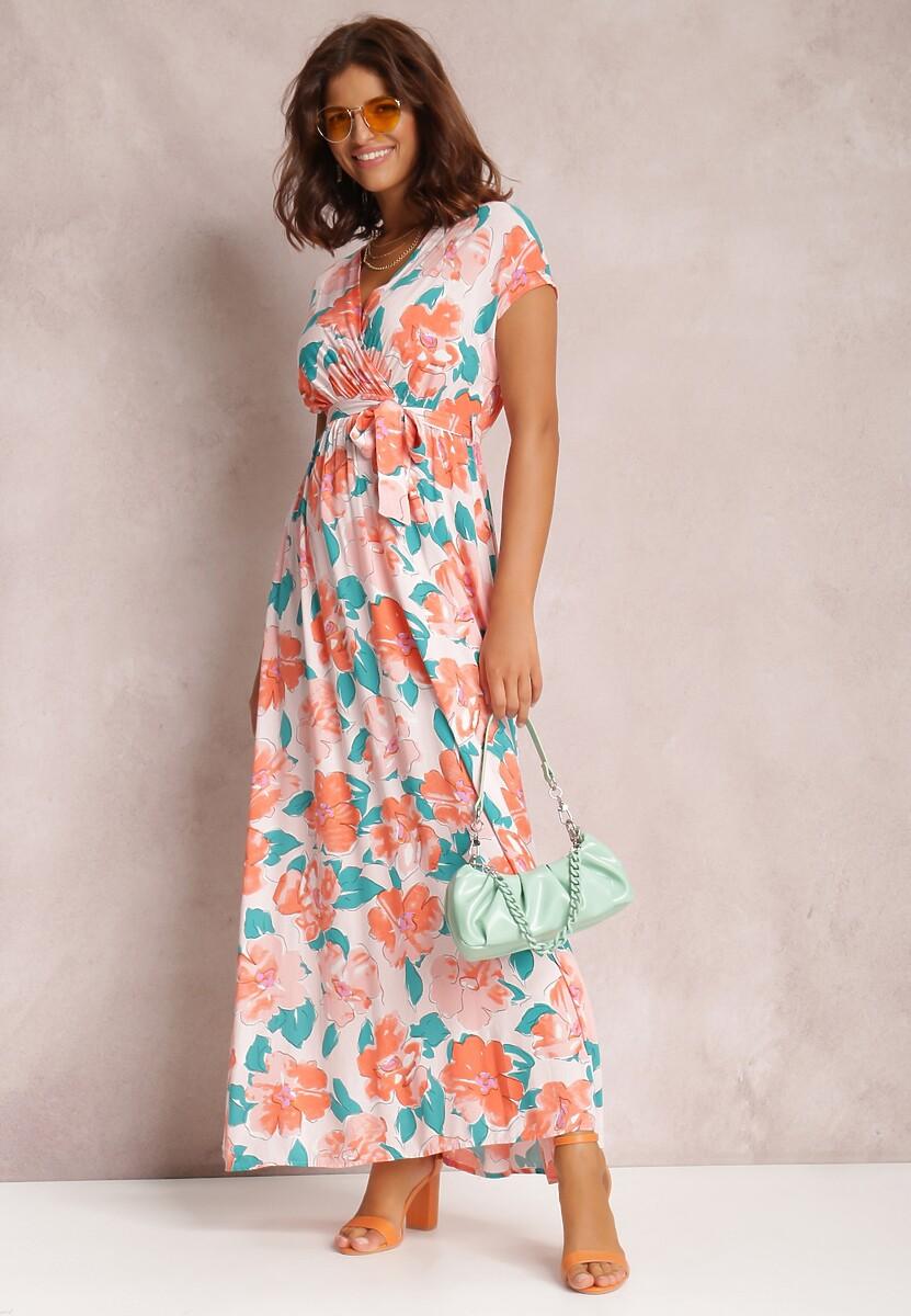 Pomarańczowa Sukienka Helet