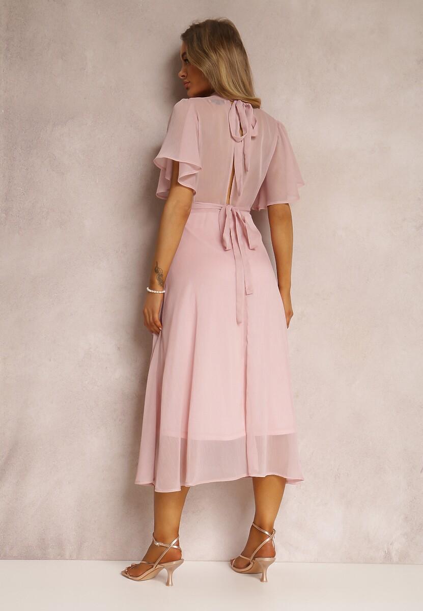 Różowa Sukienka Syrissis