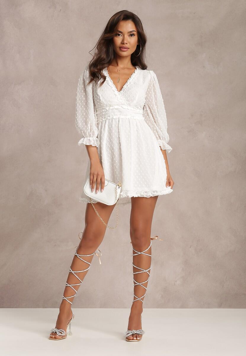 Biała Sukienka Thelaia