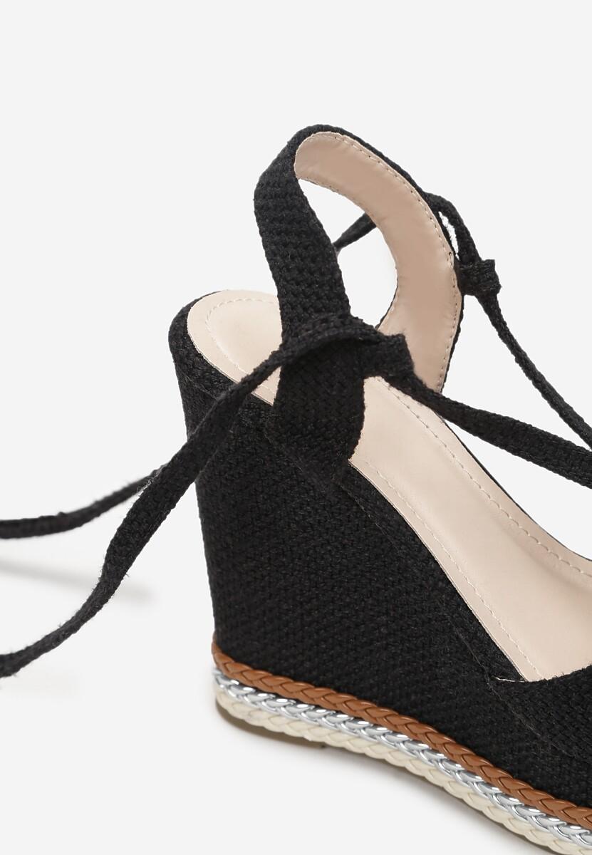 Czarne Sandały Meda