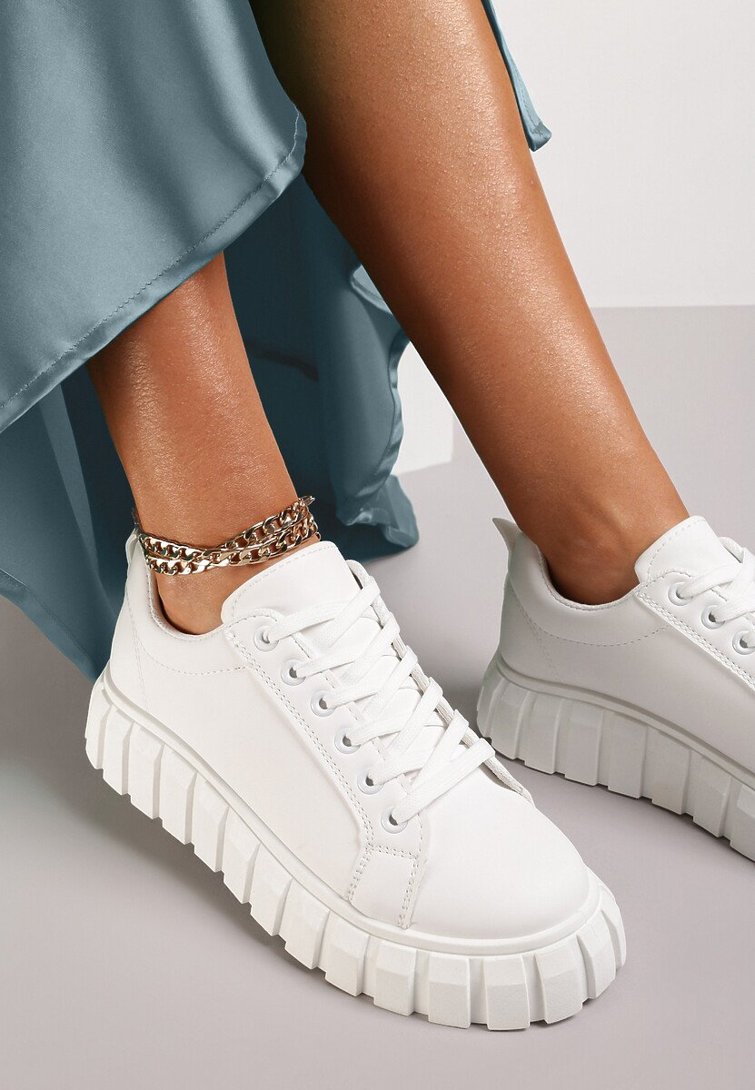 Białe Sneakersy Fuawean