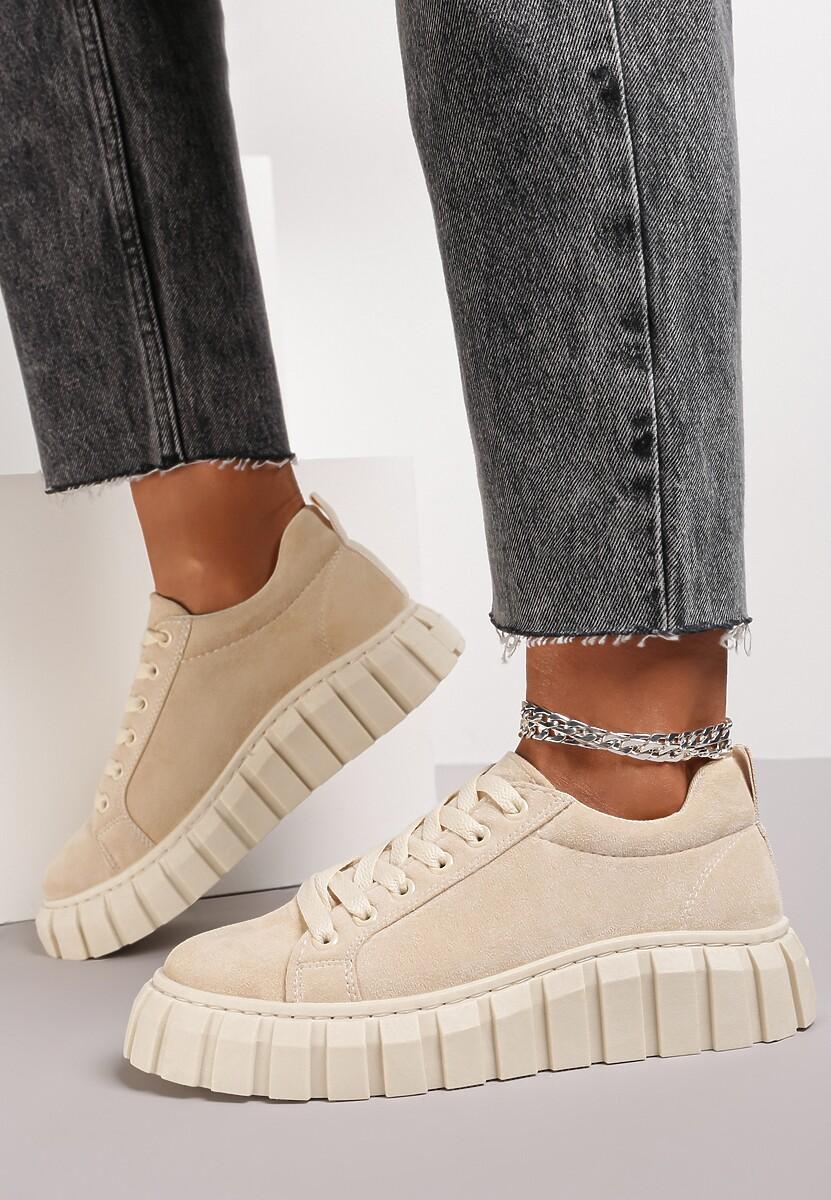 Beżowe Sneakersy Talten