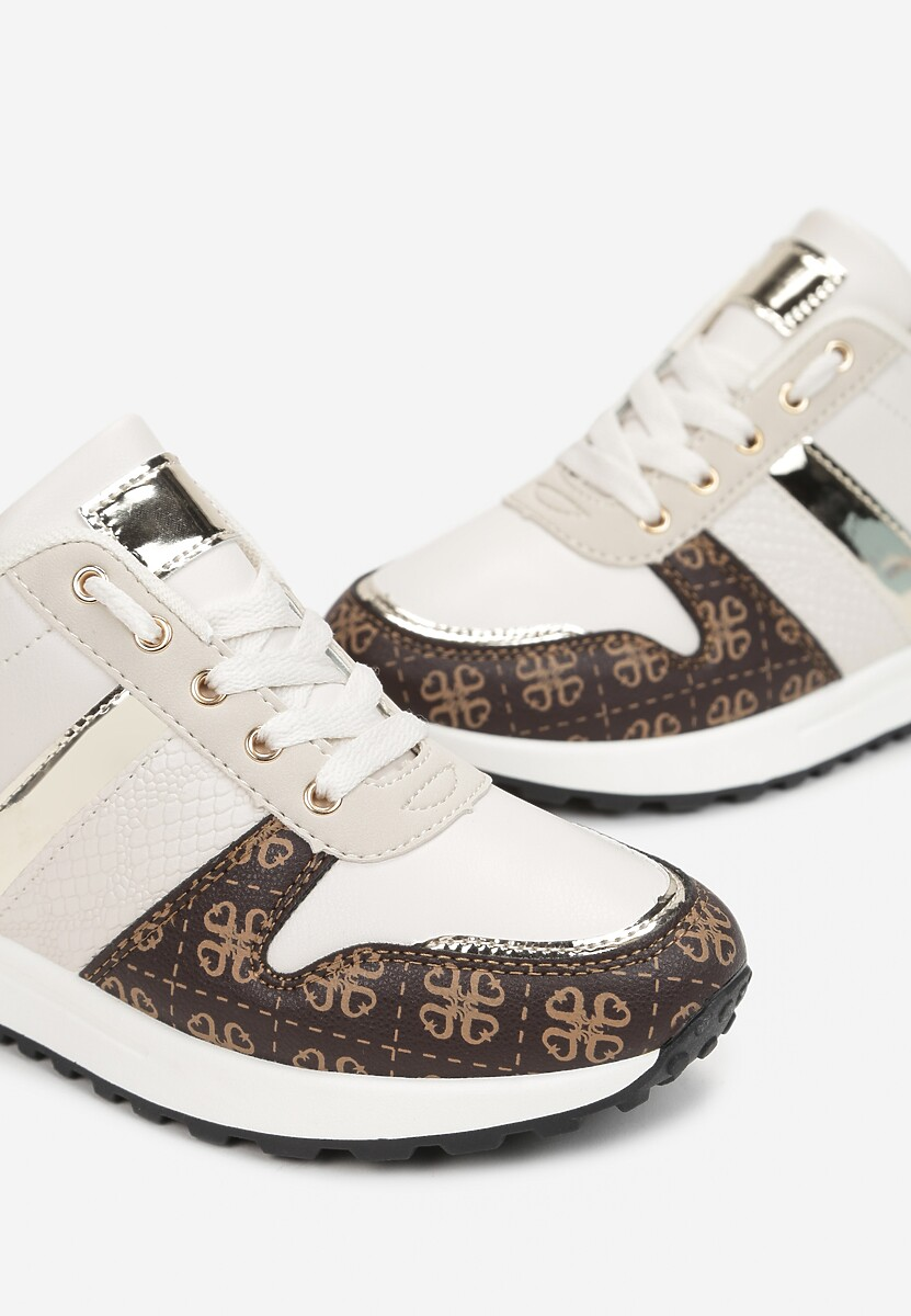 Beżowe Sneakersy Hiseuntea