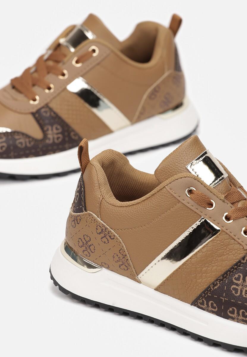 Ciemnobeżowe Sneakersy Hiseuntea