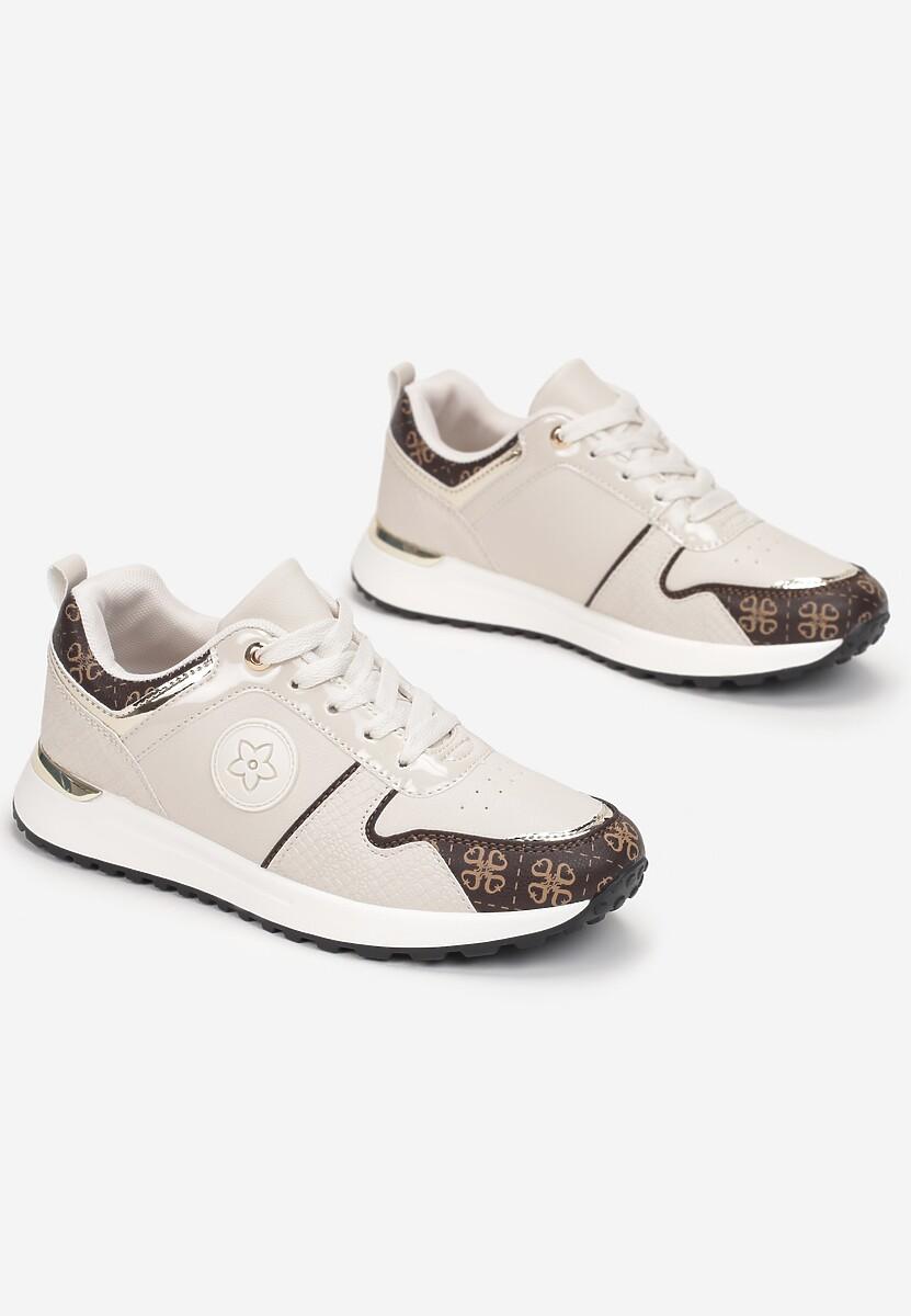 Beżowe Sneakersy Ruxisdea