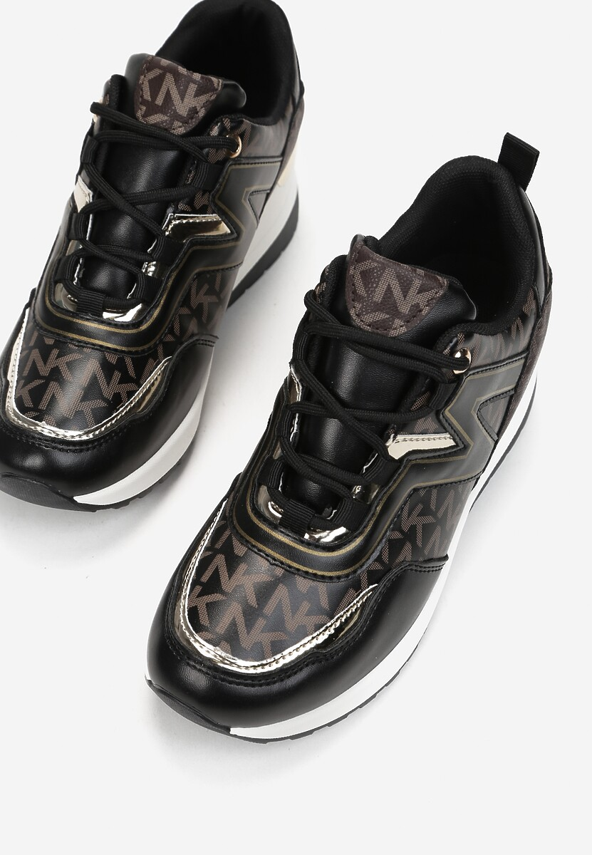 Czarne Sneakersy Mydono