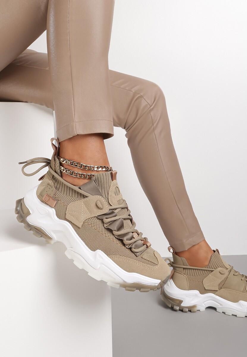 Ciemnobeżowe Sneakersy Pevralni