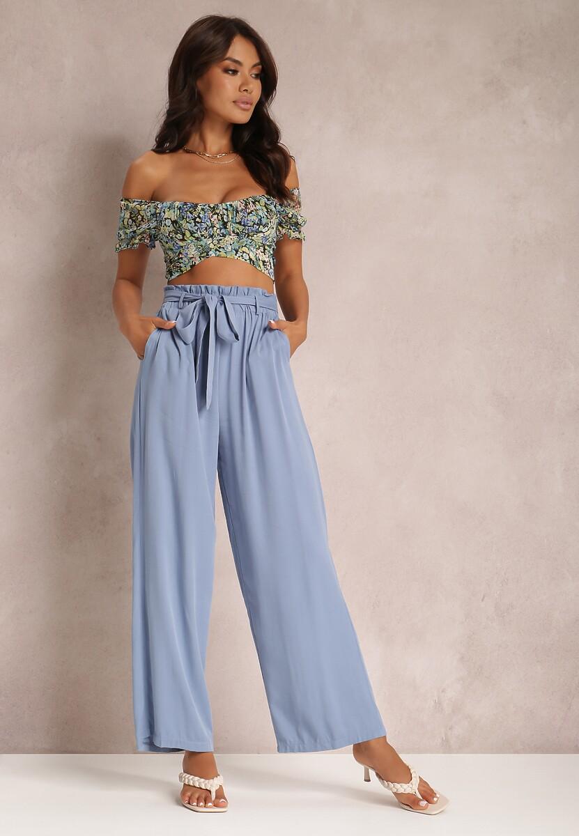 Niebieskie Spodnie Szerokie Phiorephis
