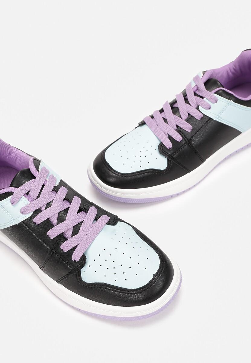 Czarno-Niebieskie Sneakersy Yulanez