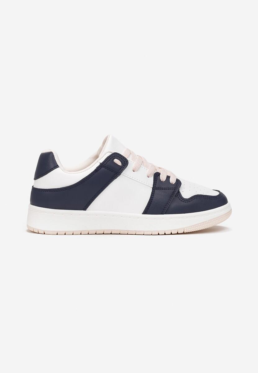Biało-Granatowe Sneakersy Yulanez