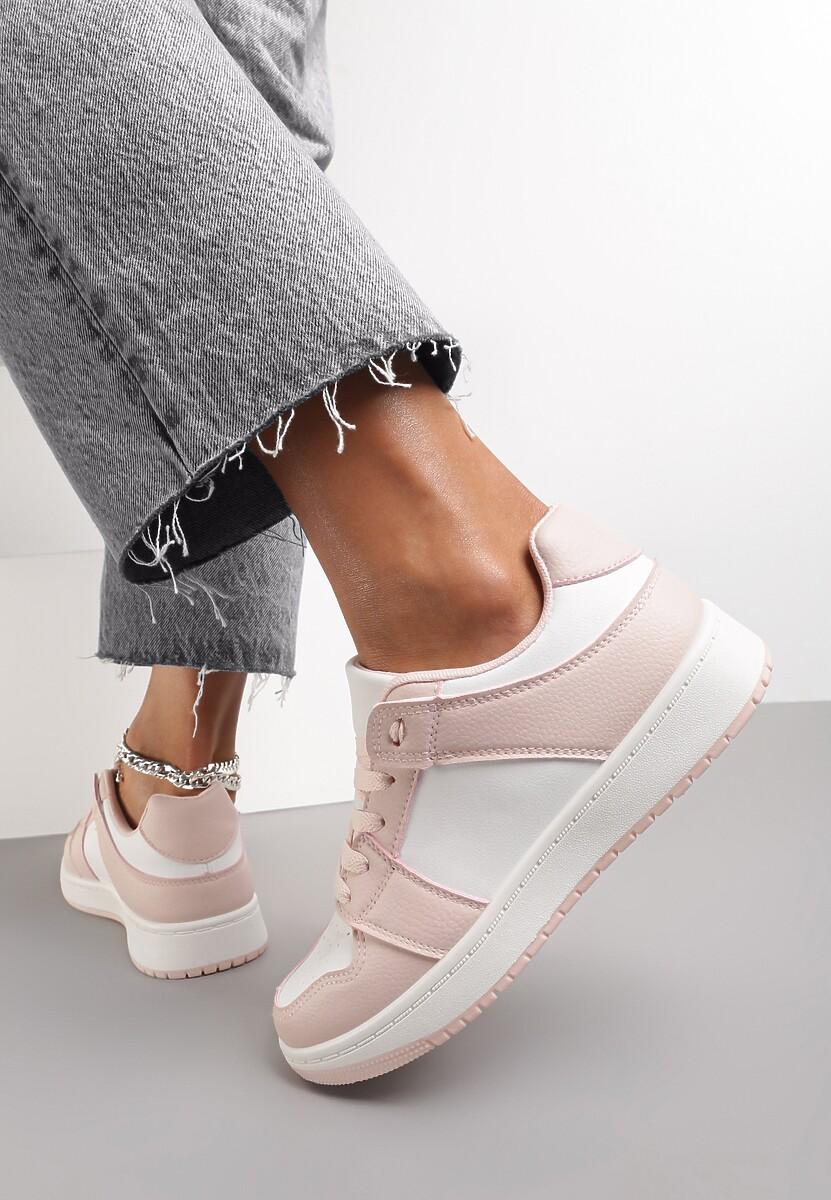 Biało-Różowe Sneakersy Yulanez