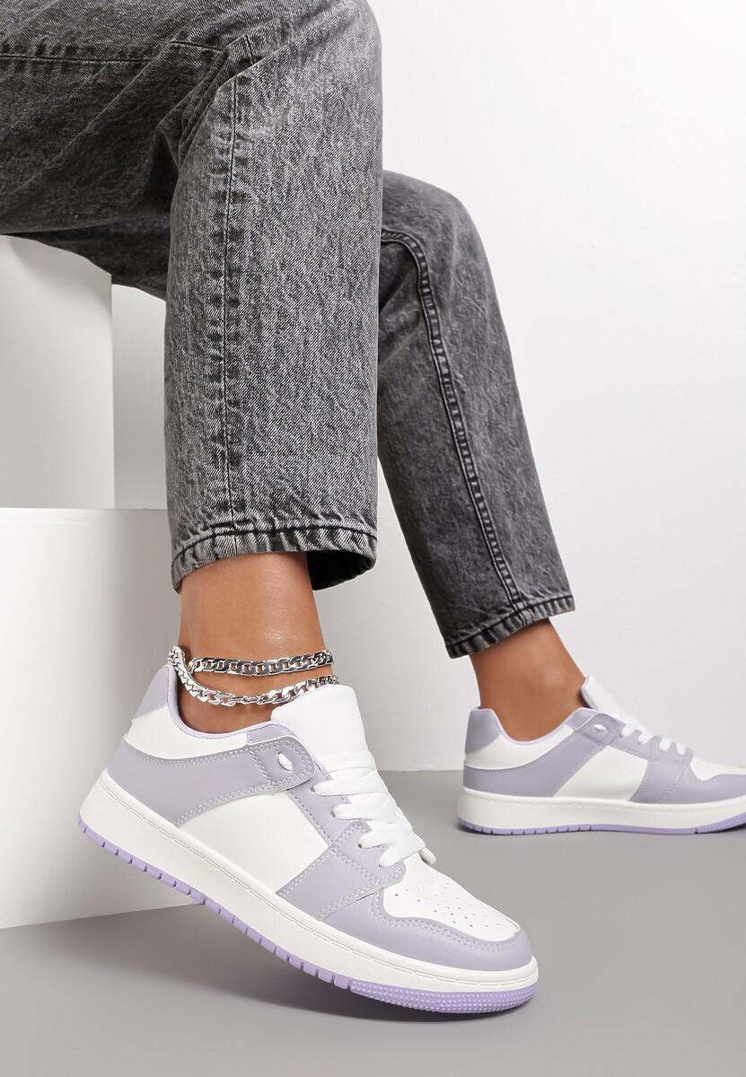 Biało-Liliowe Sneakersy Yulanez