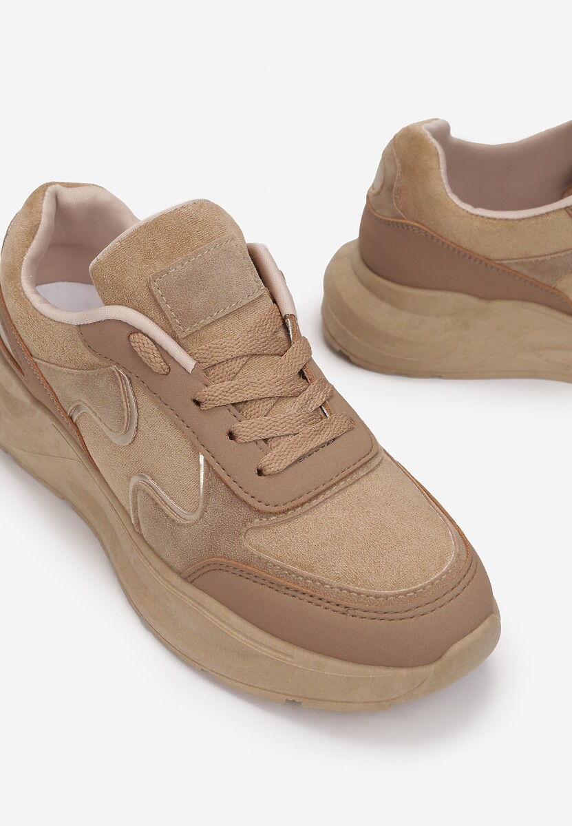 Ciemnobeżowe Sneakersy Lance