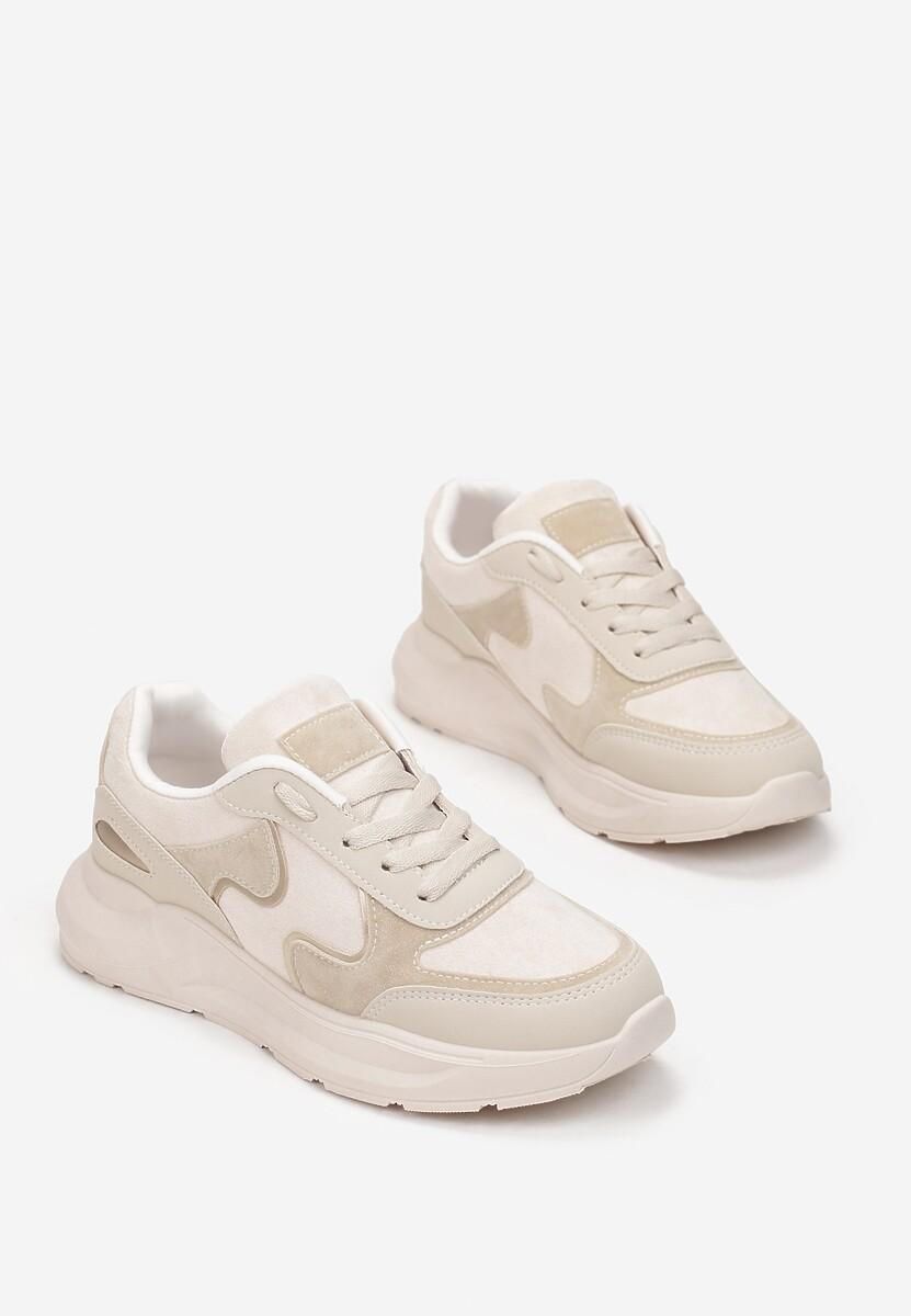Beżowe Sneakersy Lance