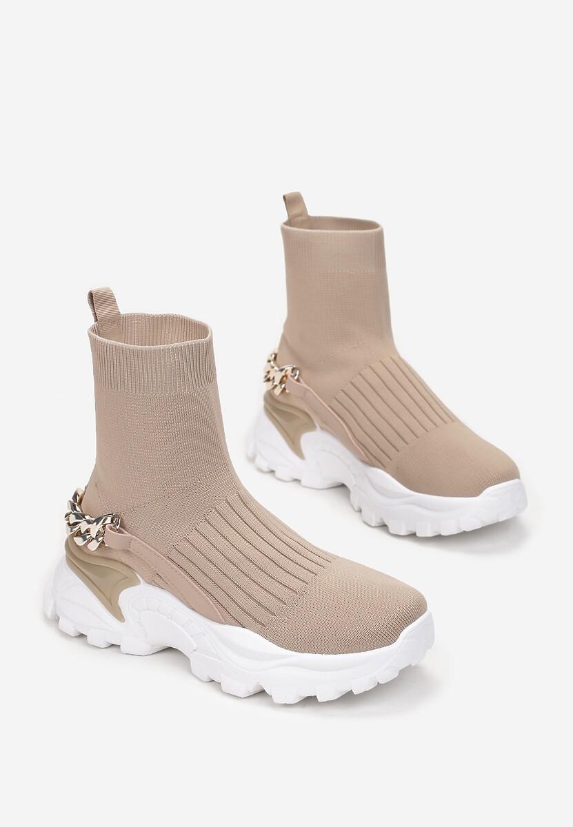 Ciemnobeżowe Sneakersy Ephaen