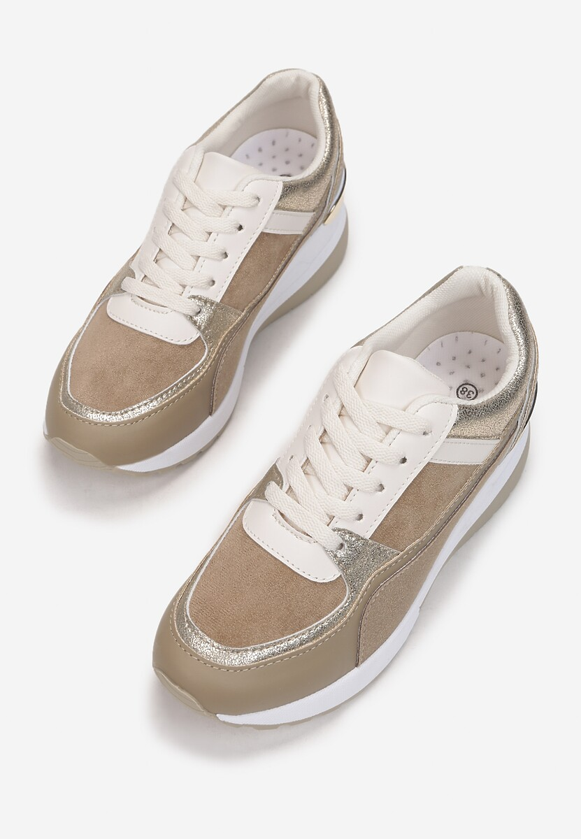 Ciemnobeżowe Sneakersy Elgar