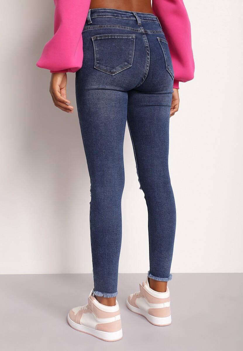 Niebieskie Jeansy Skinny Maliris