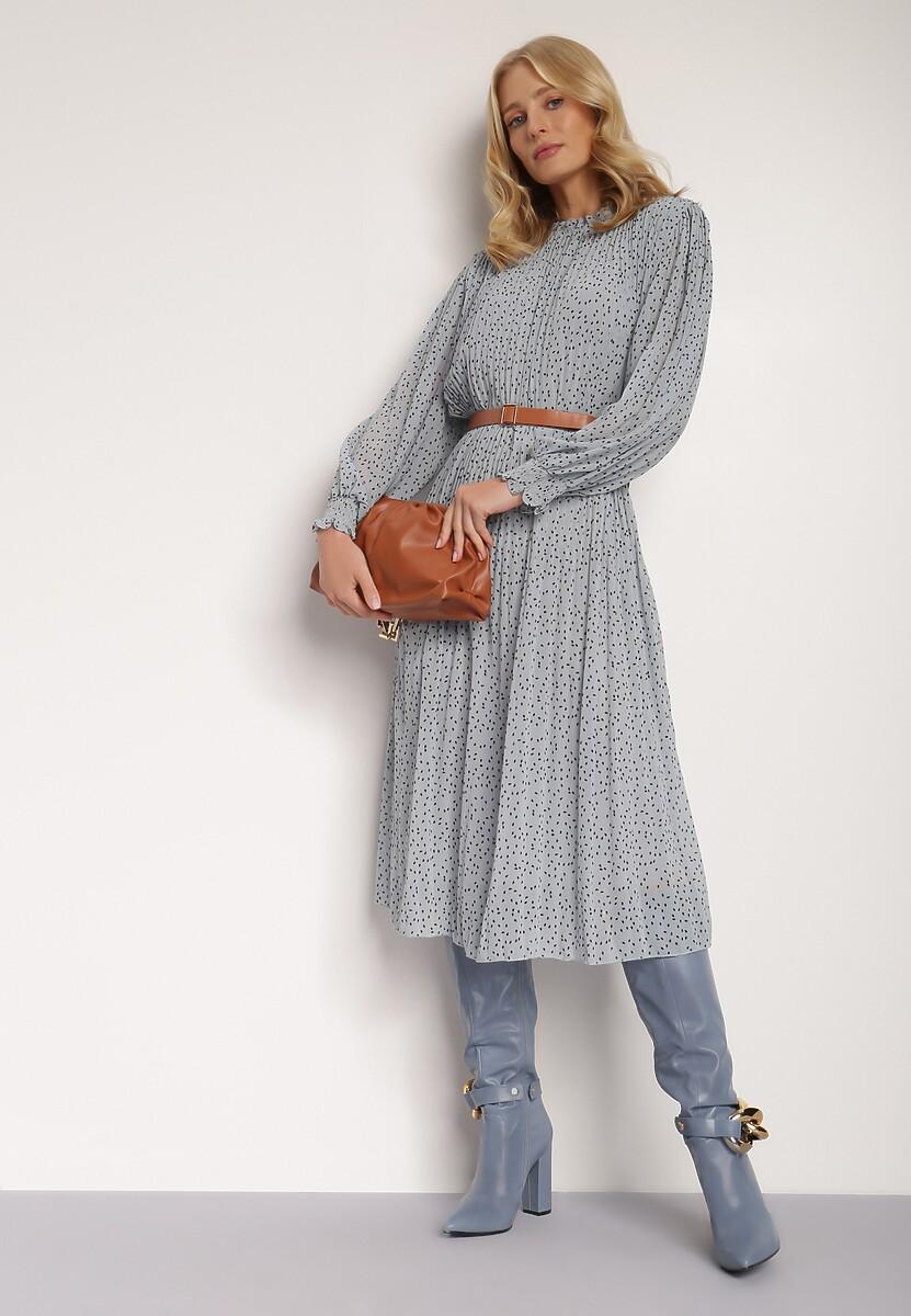 Niebieska Sukienka Vaxisys