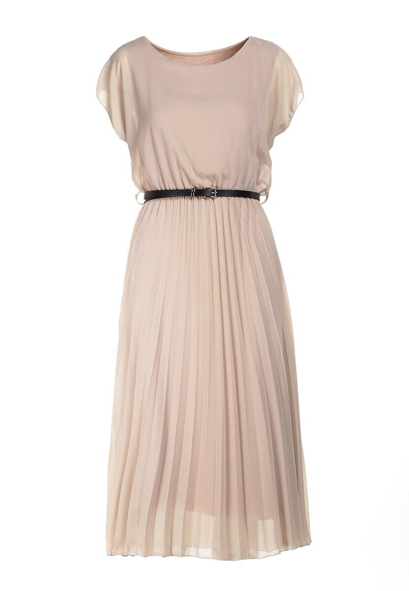 Beżowa Sukienka Clymeine