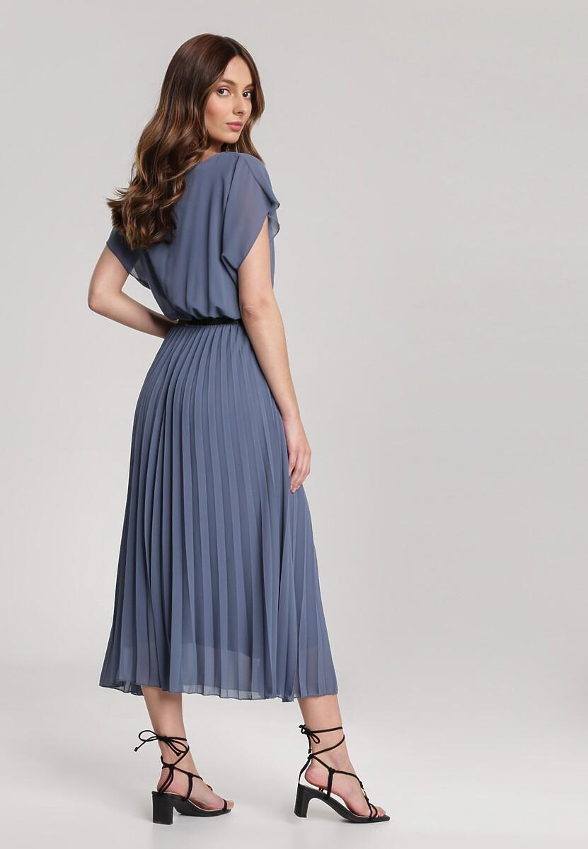 Granatowa Sukienka Clymeine