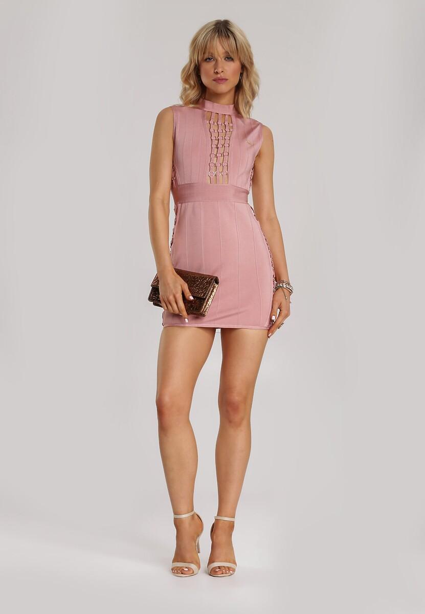 Różowa Sukienka Kimoliria