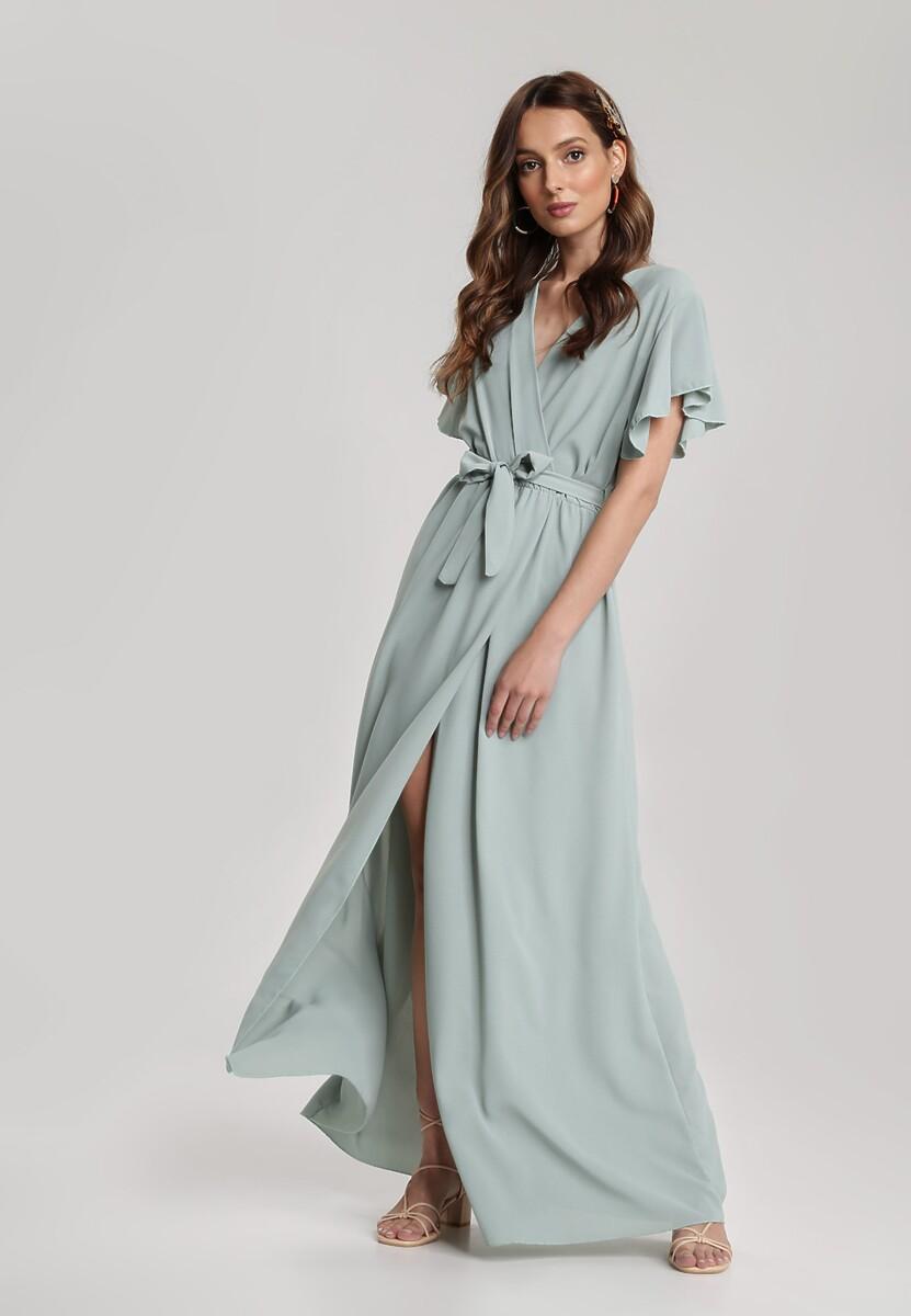 Miętowa Sukienka Idaria