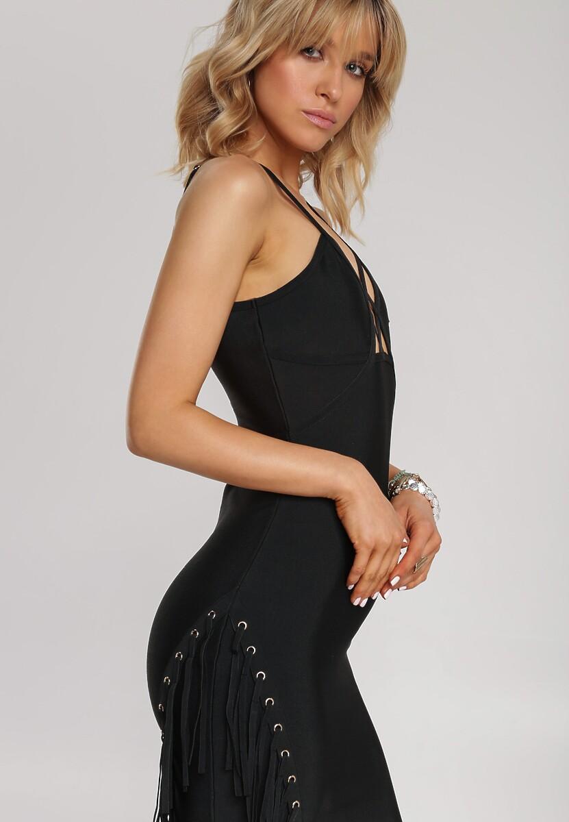 Czarna Sukienka Orimoni