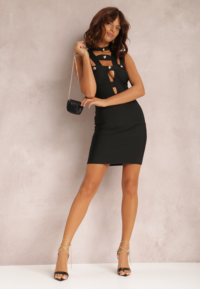 Czarna Sukienka Nahlora
