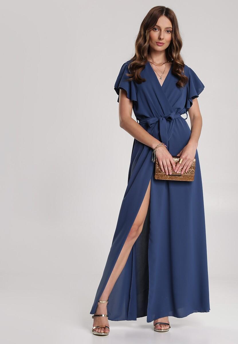 Granatowa Sukienka Idaria