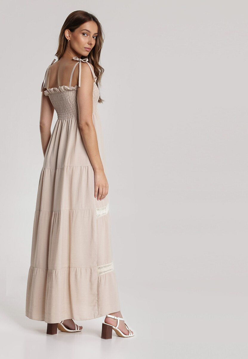 Beżowa Sukienka Adratea
