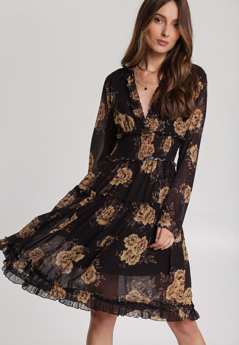 Czarno-Złota Sukienka Aqiany