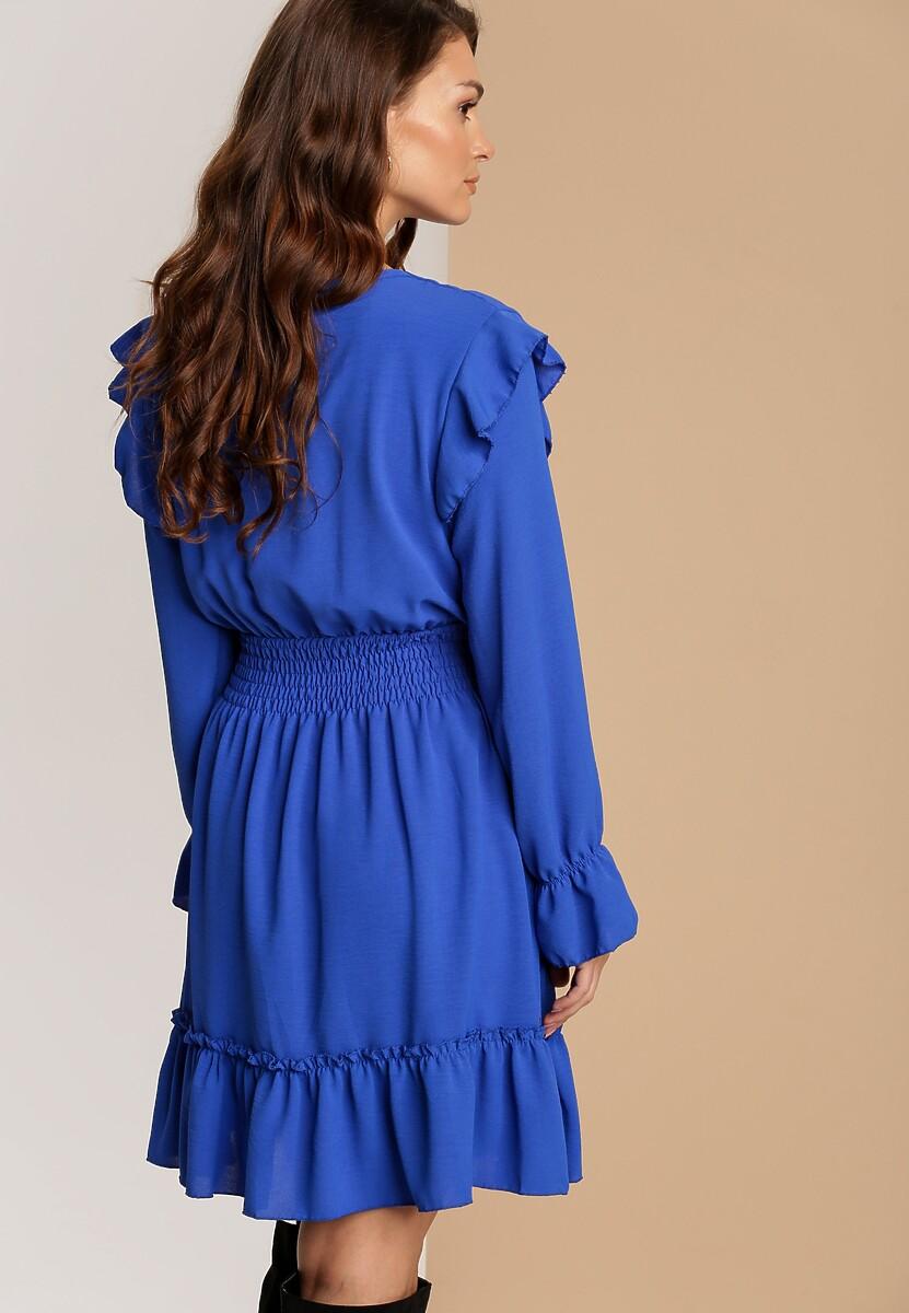 Niebieska Sukienka Yrellia
