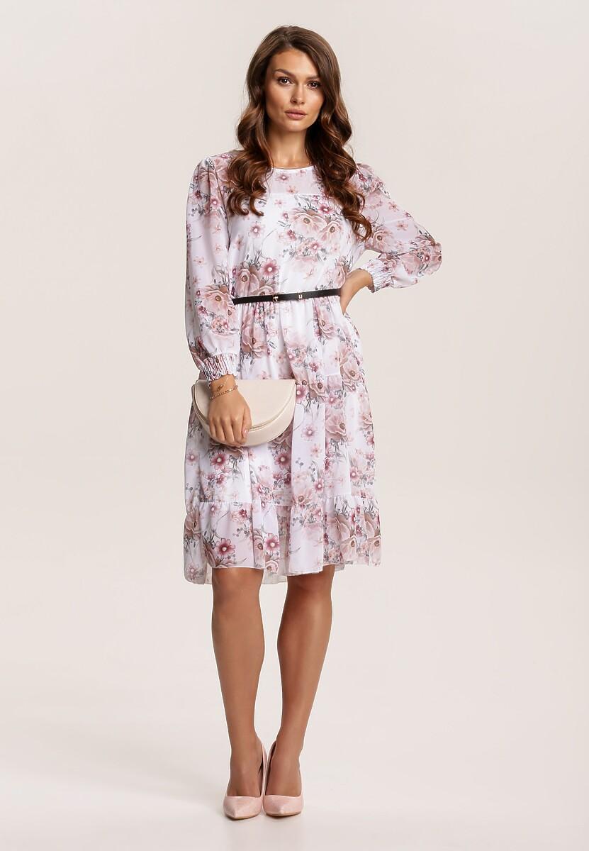 Biało-Różowa Sukienka Fyserlia
