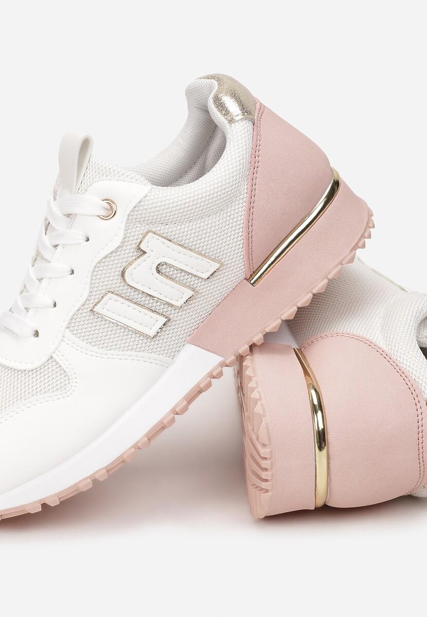 Biało-Różowe Sneakersy Orsea
