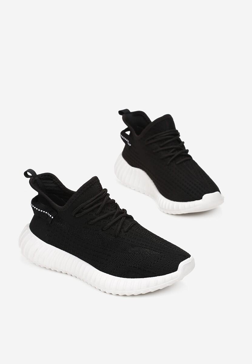 Czarno-Białe Buty Sportowe Iphorise