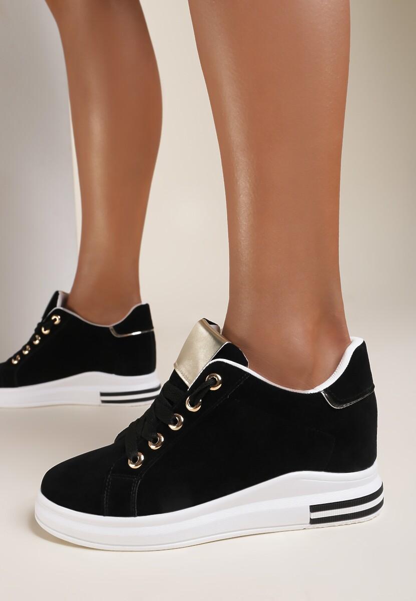 Czarne Sneakersy Malimeni