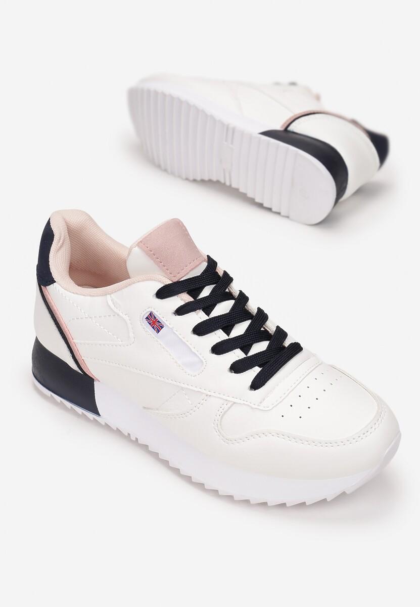 Biało-Granatowe Sneakersy Cheneda