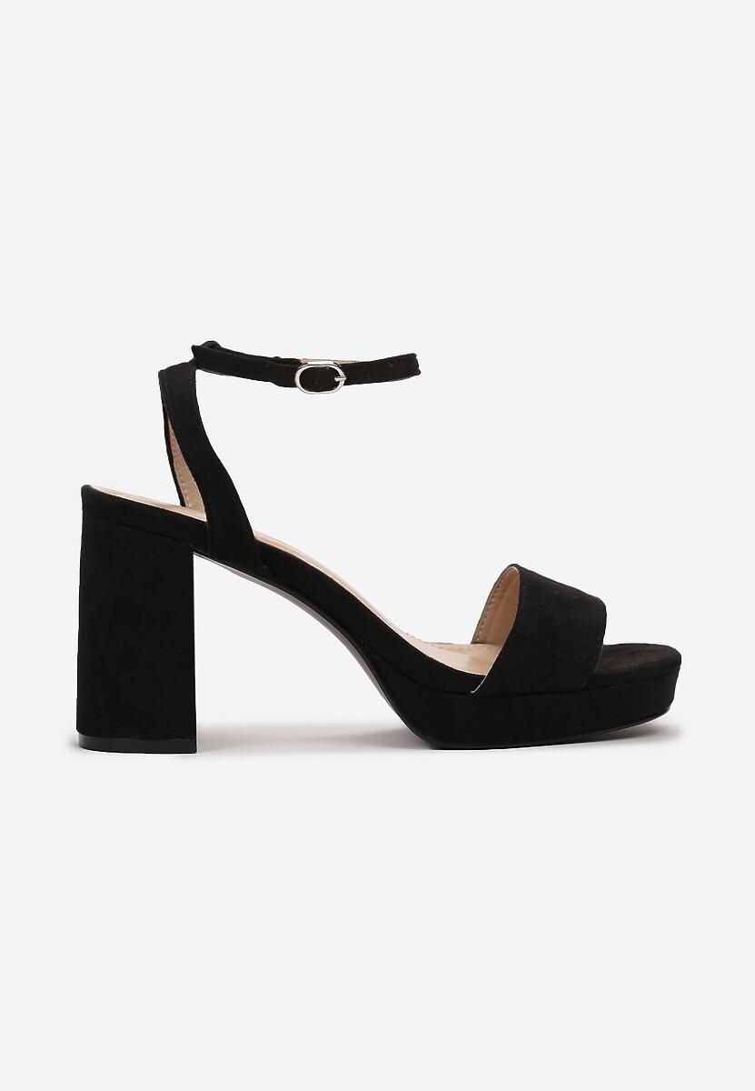 Czarne Sandały Salanore