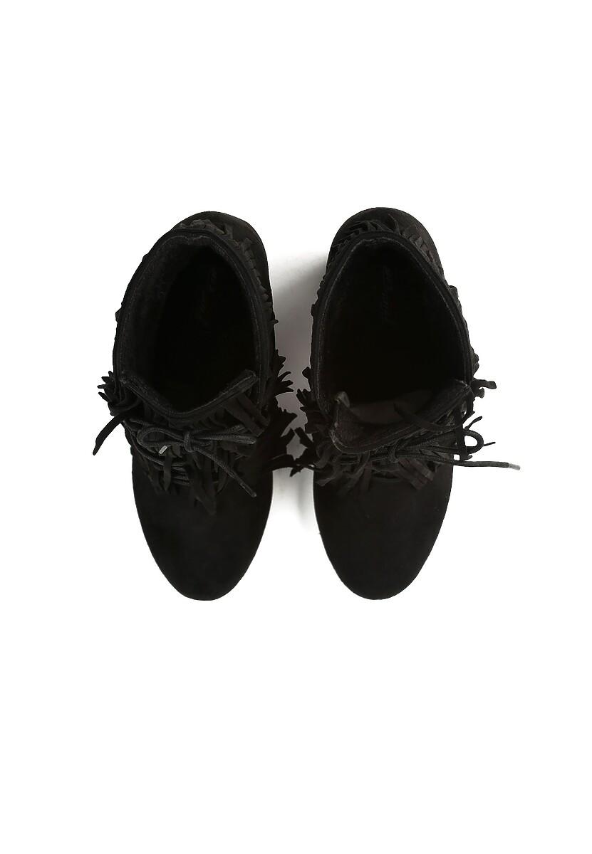 Czarne Botki Icronic