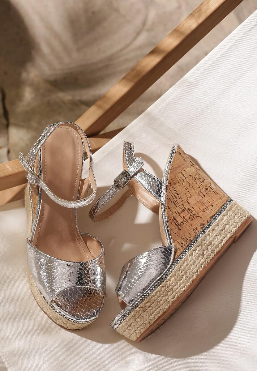 Srebrne Sandały Augment
